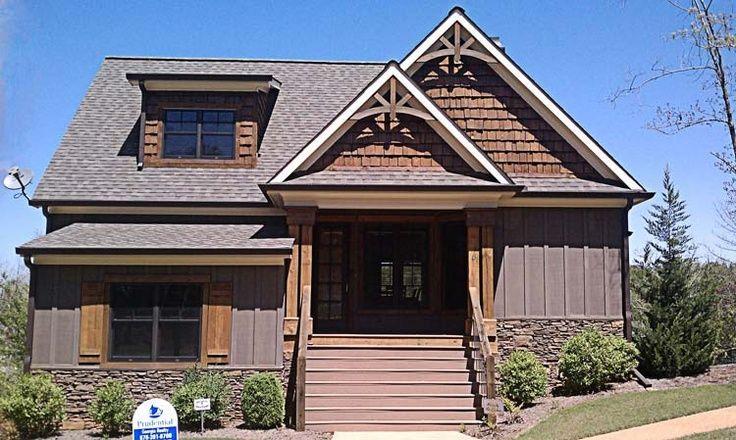 2 Geschichte 5 Schlafzimmer Rustikal Lake Cottage Haus Plan  Häuser die ich liebe   craftsman style