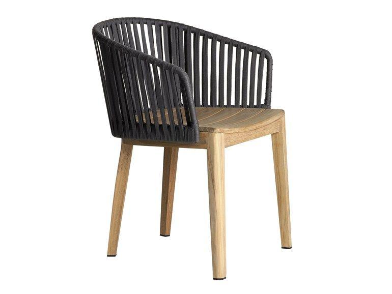 Sedia da giardino con braccioli collezione mood by tribÙ design