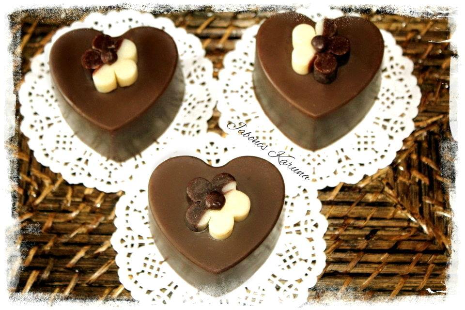 Jabón de leche de coco y chocolate