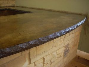 Concrete Countertop Edge Form Standard Split Stone Kitchen