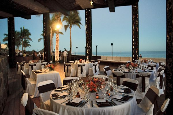This Is A View Of The Wedding Decoration Set Up At Cabo Azul Resort