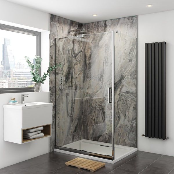 multipanel classic cappuccino stone unlipped shower wall on shower wall panels id=53646