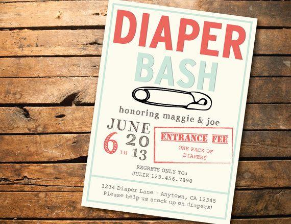 Printable Baby Shower Diaper Bash Invitation By Sonnyandco On E Diaper Baby Shower Invitations Diaper Party Invitations Diaper Baby Shower Invitations Template