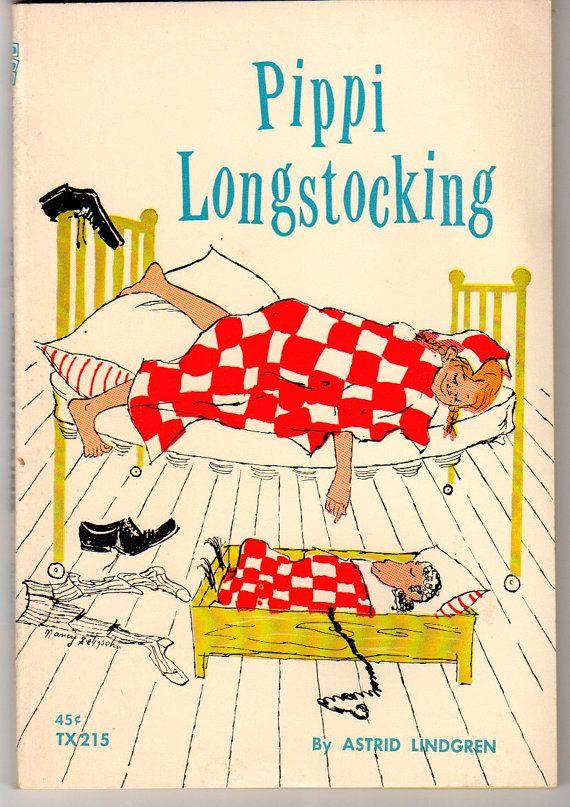 Pippi Longstocking by Astrid Lindgren Vintage Childrens Paperback Chapter Book 1968