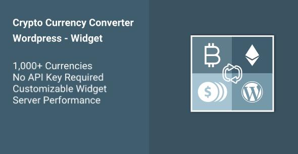 Cryptocurrency Converter Wp Widget Converter Currency Converter Cryptocurrency