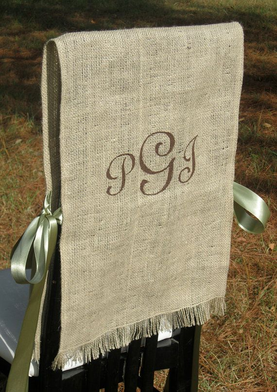 Burlap Chair Covers For A Rustic Wedding One For The