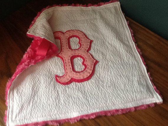 Super Soft Pink Red Sox Wubby Super cute, custom baby gift idea!