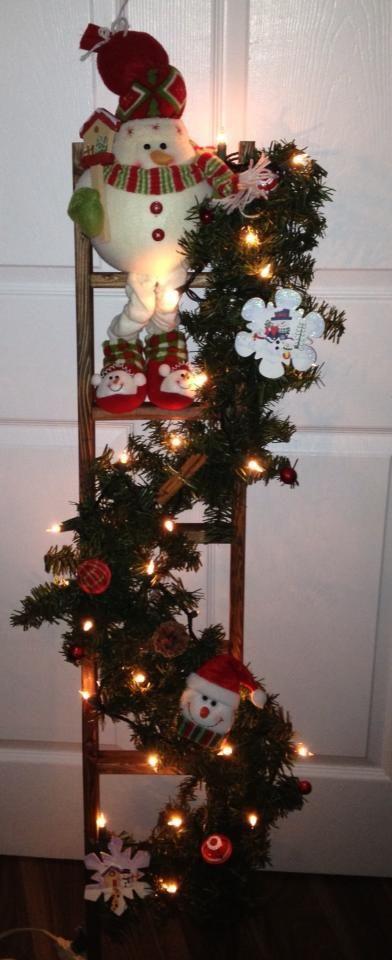 Christmas ladder things i have made 0 pinterest for Escaleras de adorno