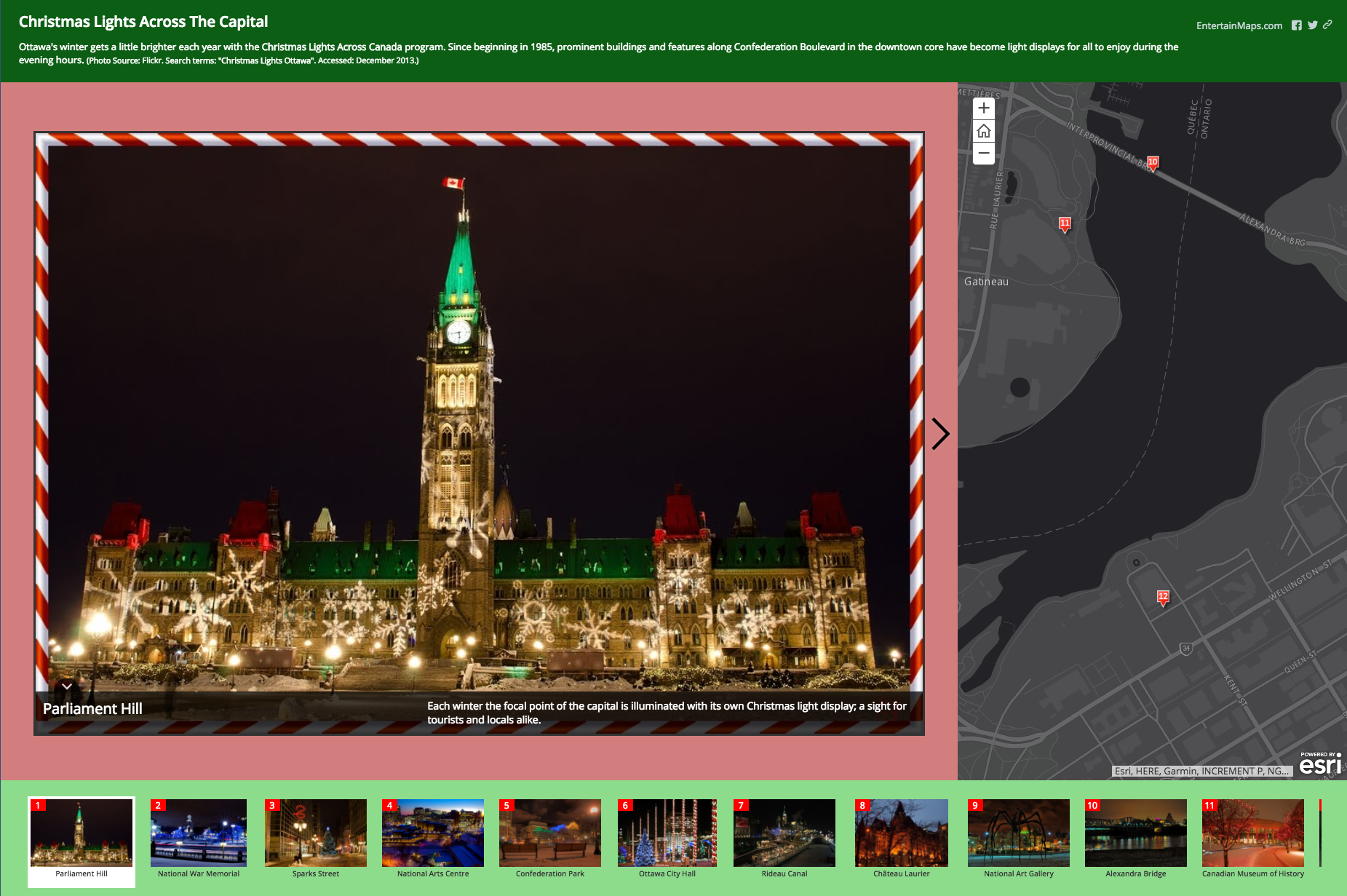 Christmas lights across the capital! Click to view storymap. | Mappy ...