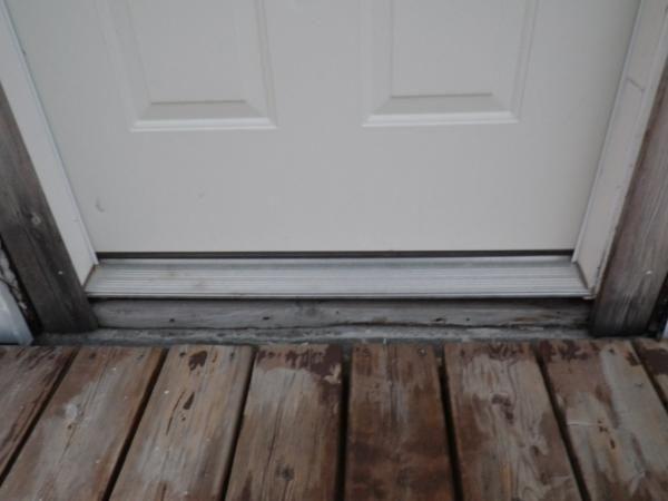 Installing exterior door sill extender door designs - Exterior door threshold extension ...
