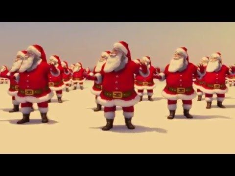 Santa Claus Dancing Jingle Bell Rock (Brenda Lee 1958) Topaz 2015 #bell