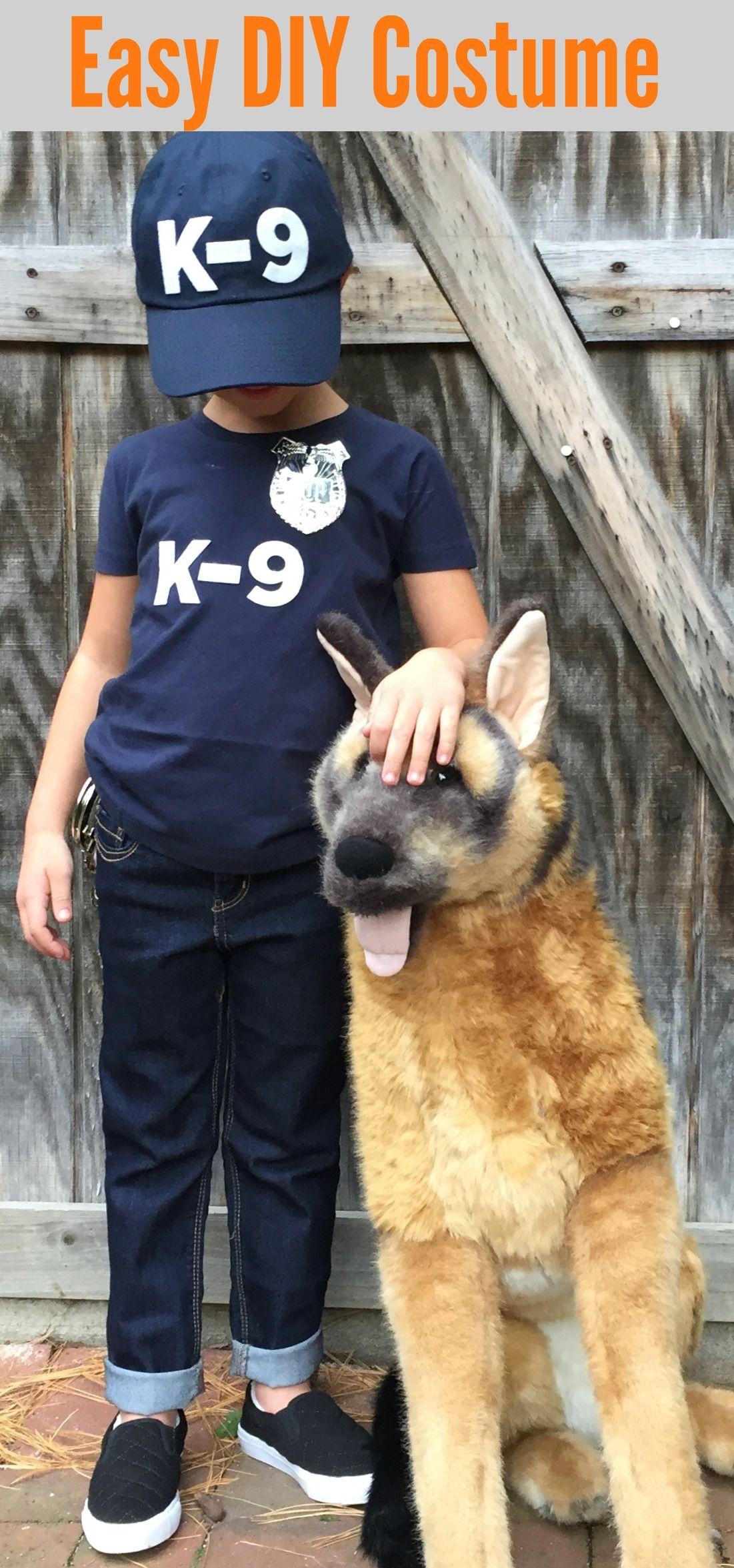 K9 Unit Police Officer Diy Halloween Costumes For Kids