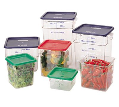 Cambro 4sfscw135 Camsquare Food Container W 4 Qt Capacity Polycarbonate Clear Cambro Food Storage Containers Food Storage