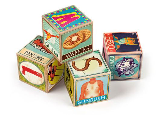 XYZ Blocks are *the* funkiest ABC blocks I've ever seen!  Hand it to Fred to create something this cool.