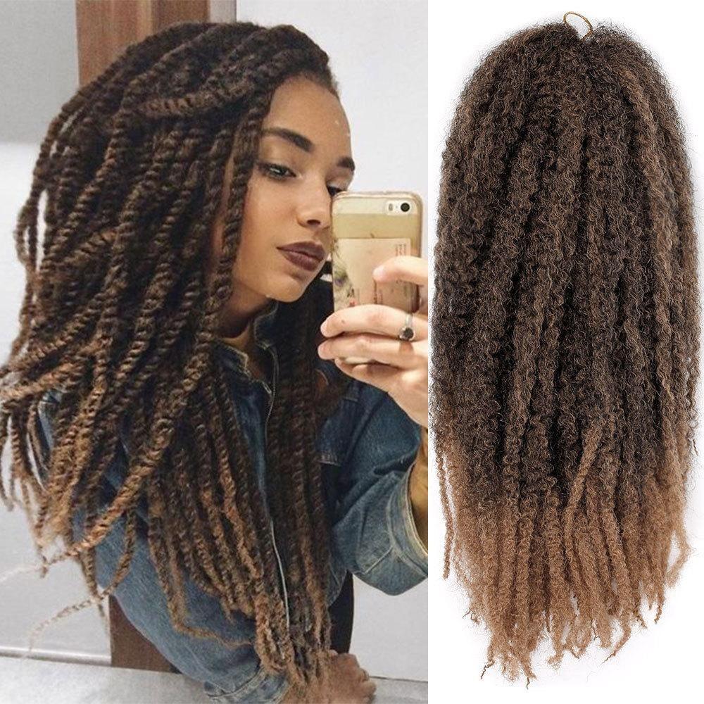 2019 Spring Twist Crochet Hair Wavy Braids Soft Synthetic Jamaican Bounce Twist Braiding Crochet H Marley Braiding Hair Twist Braid Hairstyles Twist Hairstyles