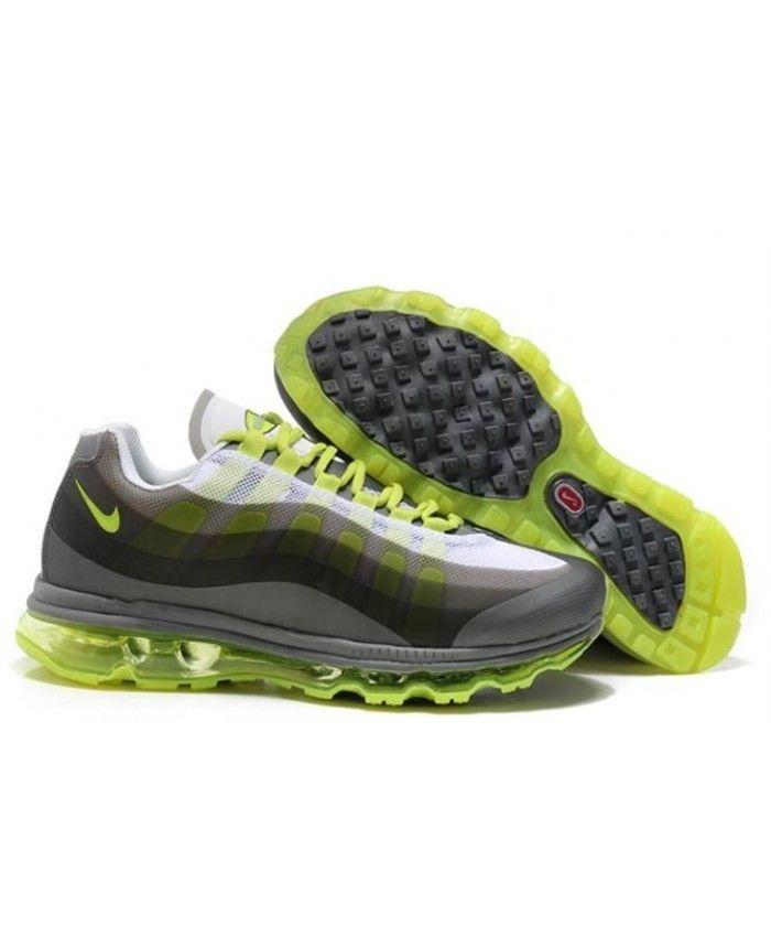 d4cbb3f3eb3b54 Nike Air Max 95 Womens Grey Green Trainer