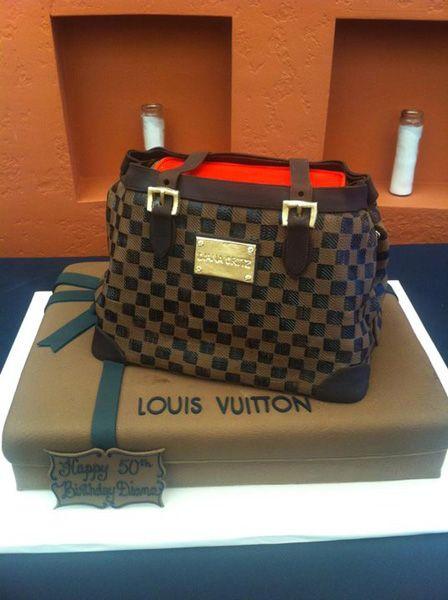 Terrific Lv Cake For The Fashionista Louis Vuitton Cake Louis Vuitton Personalised Birthday Cards Veneteletsinfo