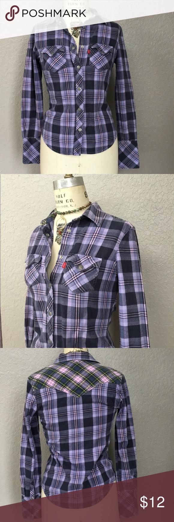 Red flannel 2018  Levius Red Tab Purple Flannel Button Down en   My Posh Picks