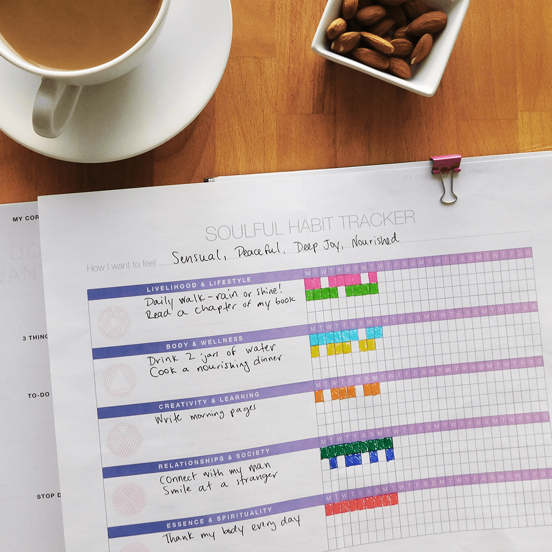 Soulful Habit Tracker Worksheet