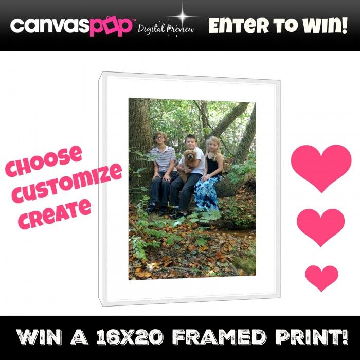 Do you want an art quality framed print for your wall?Win one from Canvaspop! sponsored by Canvaspop, hosted by Mom Does Reviews. The process from start to finish to make aCanvaspop framed print is simple. Choose your favorite picture...