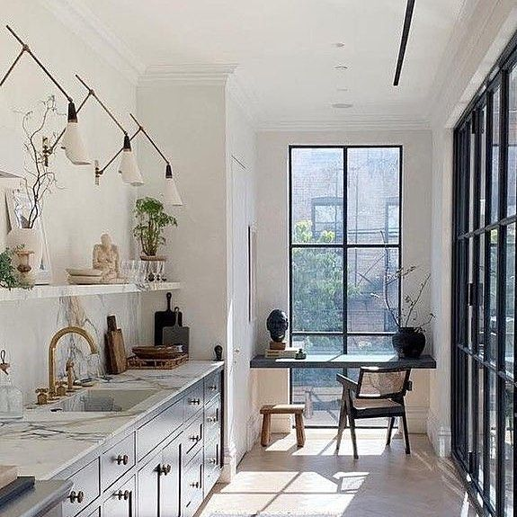 Love The Wall Lamps In This Kitchen 🖤