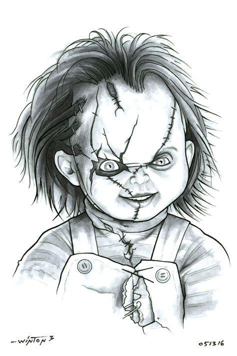 Chucky By Byronwinton Deviantart Com On Deviantart Desenhos
