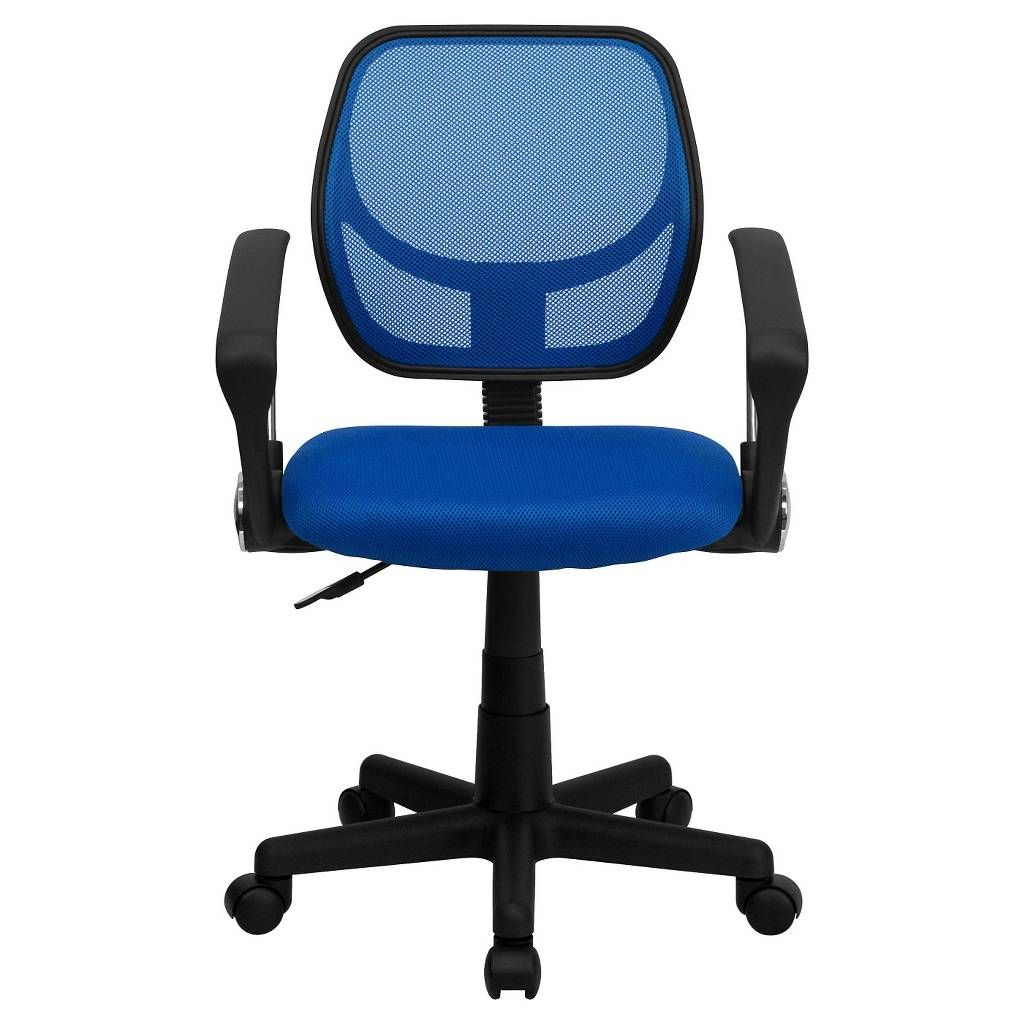 Low Back Blue Mesh Swivel Task Chair With Arms Flash Furniture Mesh Task Chair Task Chair Stylish Chairs