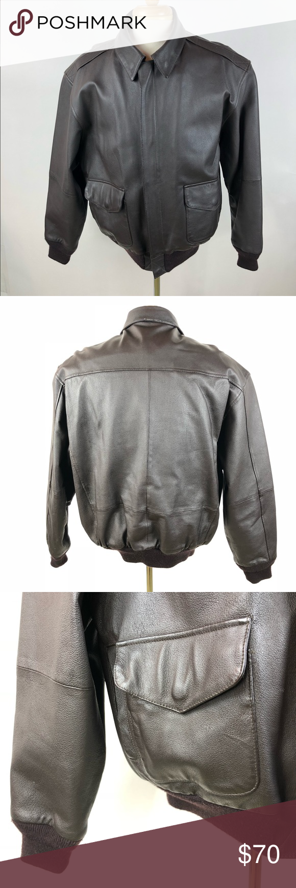 Air Force Airborne Full Zip Brown Leather Jacket Brown Leather Jacket Jackets Leather Jacket [ 1740 x 580 Pixel ]