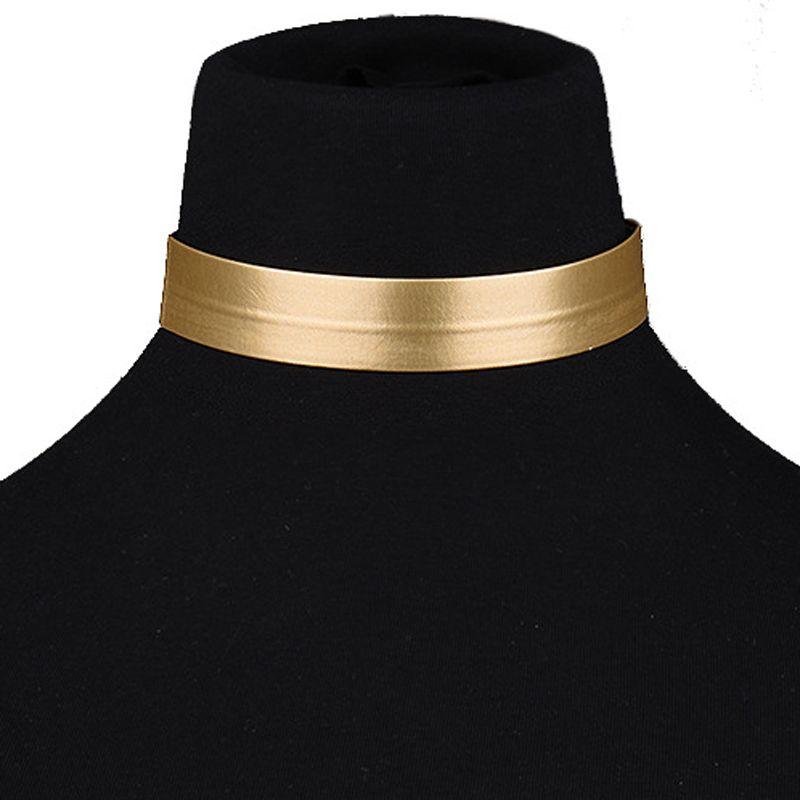 Nieuwe Goud Lederen Touw Choker Ketting Voor Vrouwen Fashion Gold Chokers 2016 collier femme collier ras du cou gargantilla PWN0207