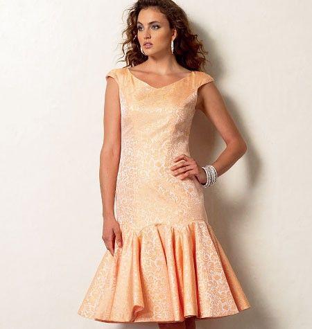 Vogue - 8948 patroon feestelijke jurk | Naaipatronen.nl | zelfmaakmode patroon online