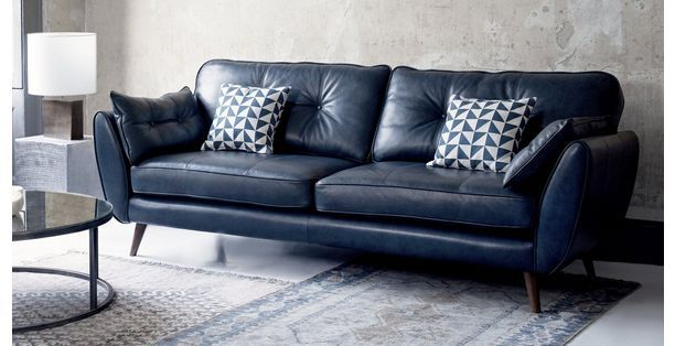 Super Zinc Leather 4 Seater Sofa I Smooth Angled Arms Rounded Caraccident5 Cool Chair Designs And Ideas Caraccident5Info