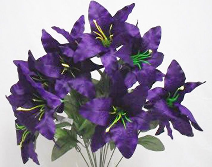 Purple Tiger Lily Flower My About Me Page Silk Flowers Wedding