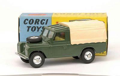 Mettoy Corgi diecast No.438 Land Rover 1963-77