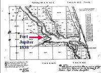 Map Jupiter Florida.An 1850s Map Of The Fort Jupiter Reservation History Of Jupiter