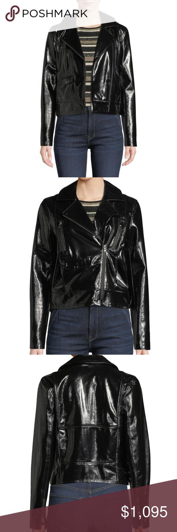 Frame Slick Cropped Black Leather Moto Jacket Black Leather Moto Jacket Moto Jacket Moto Style [ 1740 x 580 Pixel ]