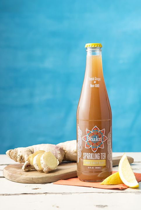 New carbonated black tea combined with Bhakti's signature fresh-pressed ginger and a splash of fresh, organic lemon juice. You're going to love our new sparkling teas!