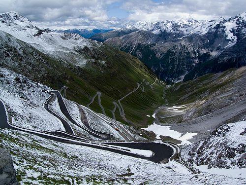Passo Dello Stelvio Pretty Places Cycling Photography Giro D Italia