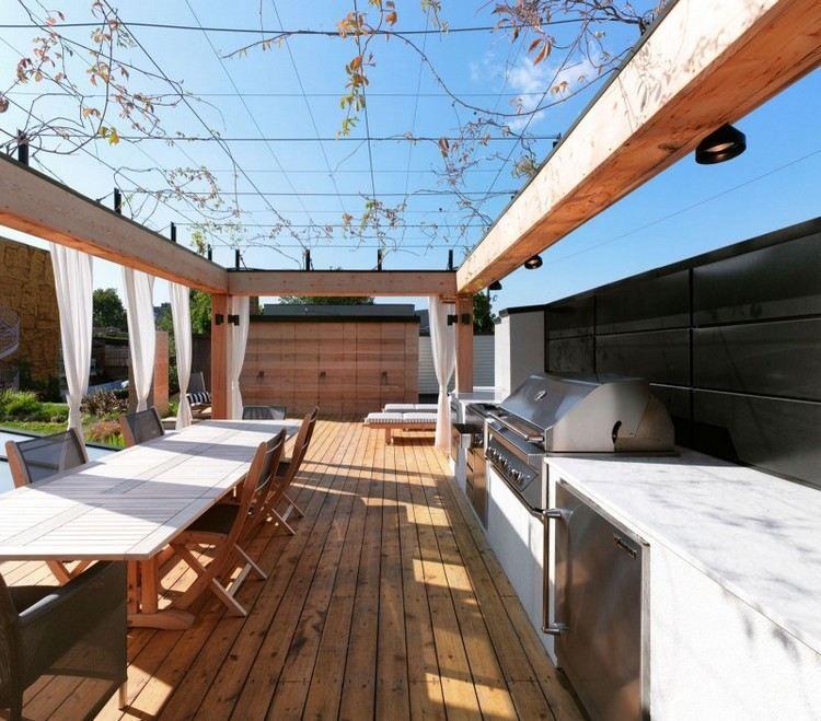 Holzpergola Und Draht Als Rankhilfe Am Dach | Garten | Pinterest Holz Pergola Rutikal Garten