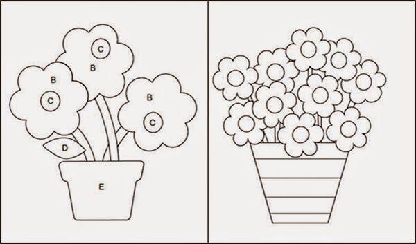 Molde Vasos De Planta Molde Flor Molde Artesanato Em Tecido