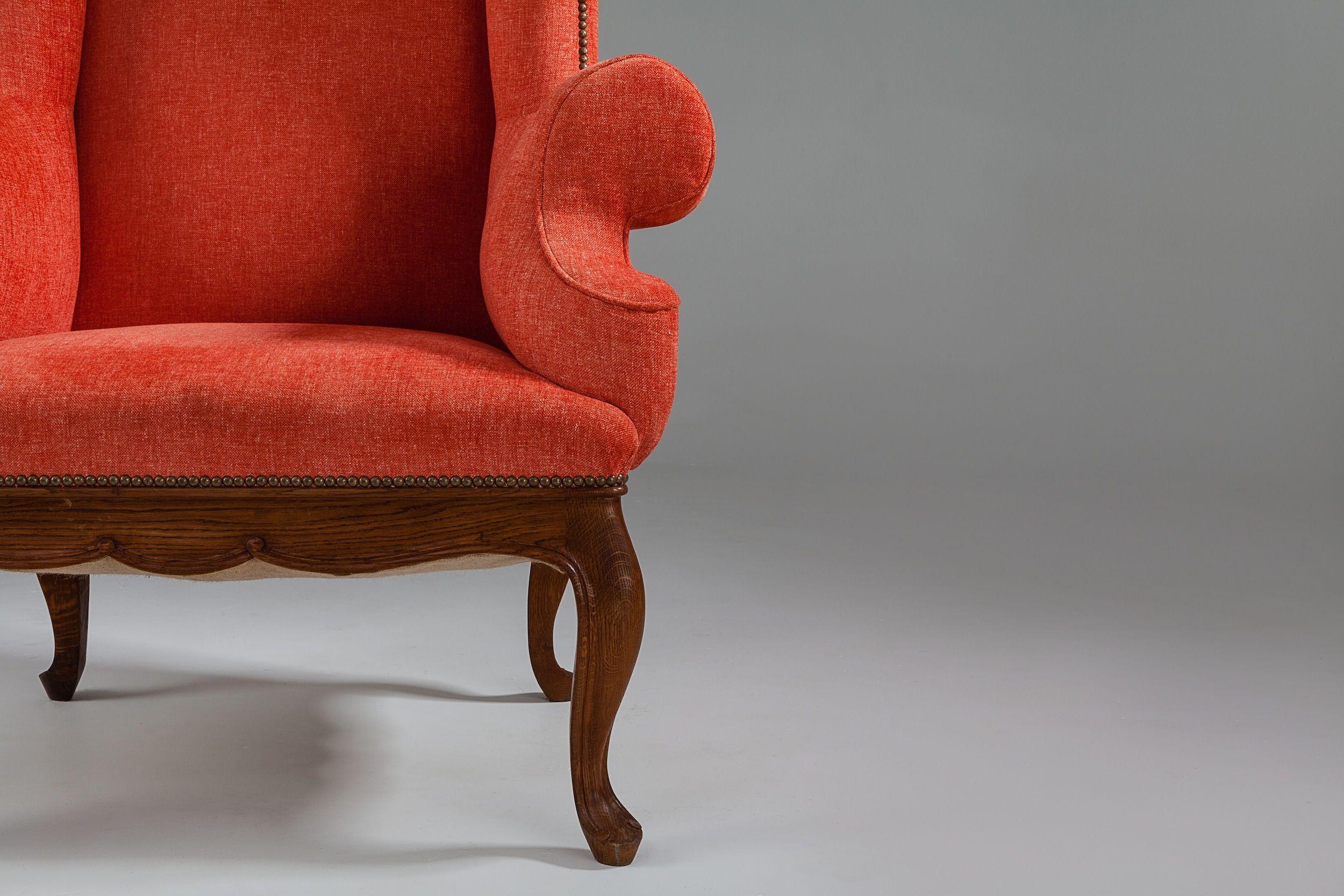 French oak wing chair wing chair french oak chair