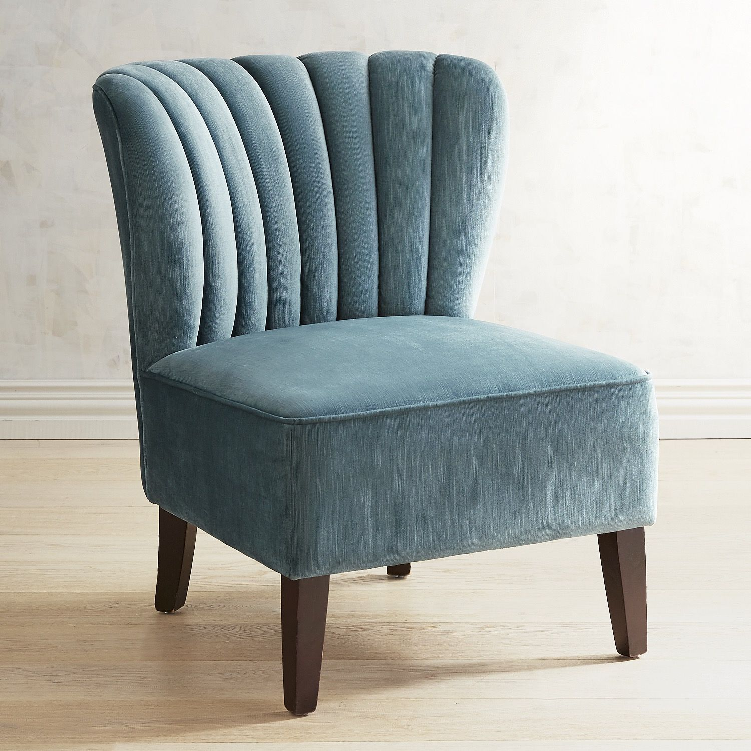 Emille Pool Blue Channel Back Chair In 2019 Furniture