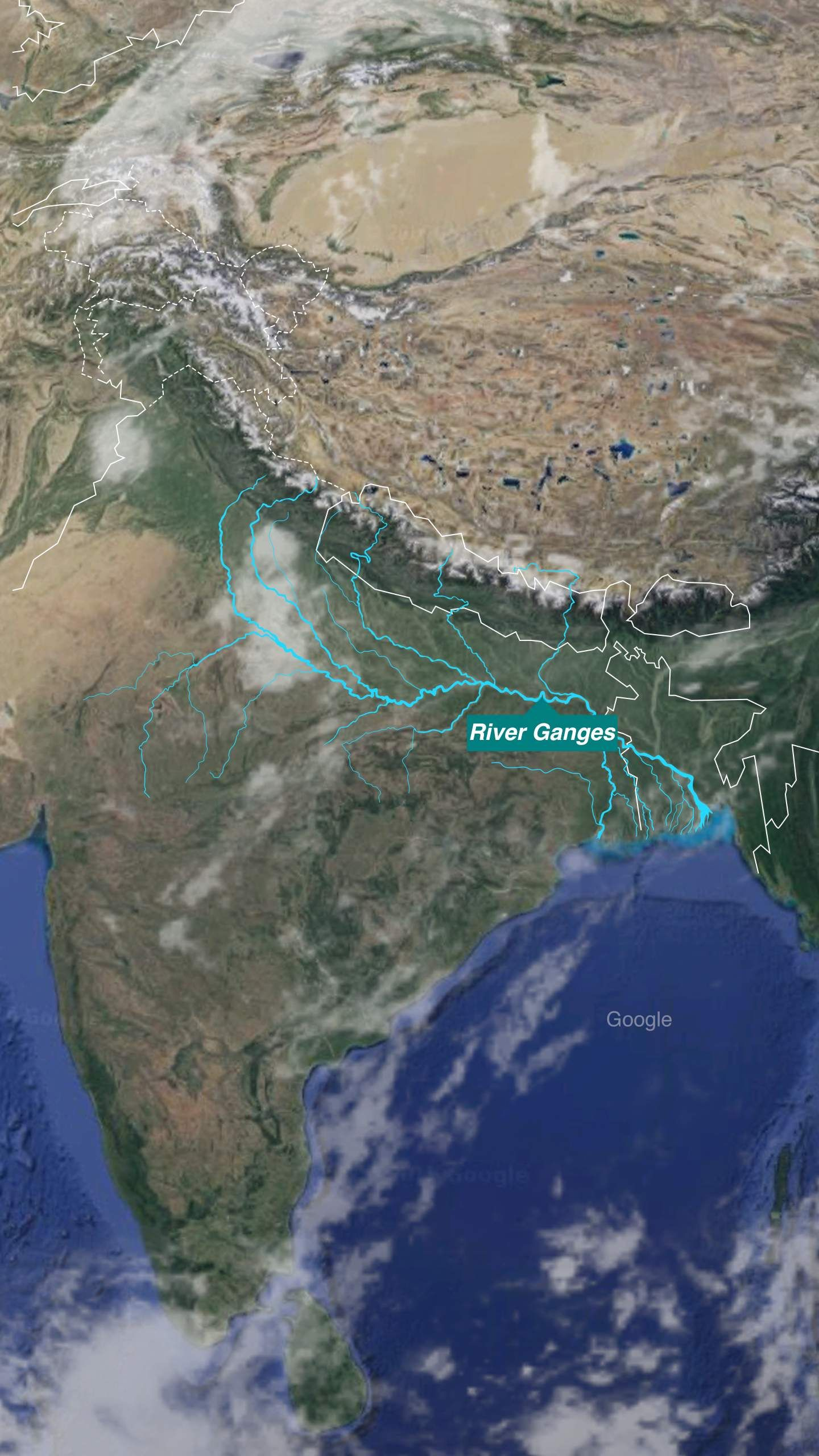 map of the Ganges River | BBC | * Explore Asia - Southern ...