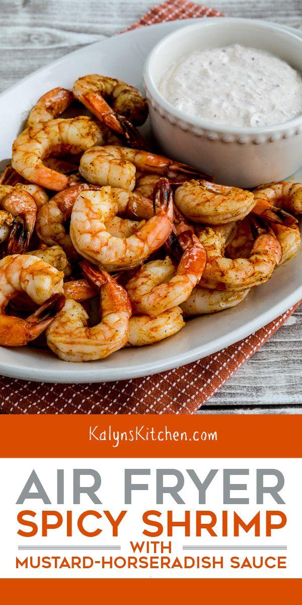 Air Fryer Shrimp - Kalyn's Kitchen #easyshrimprecipes