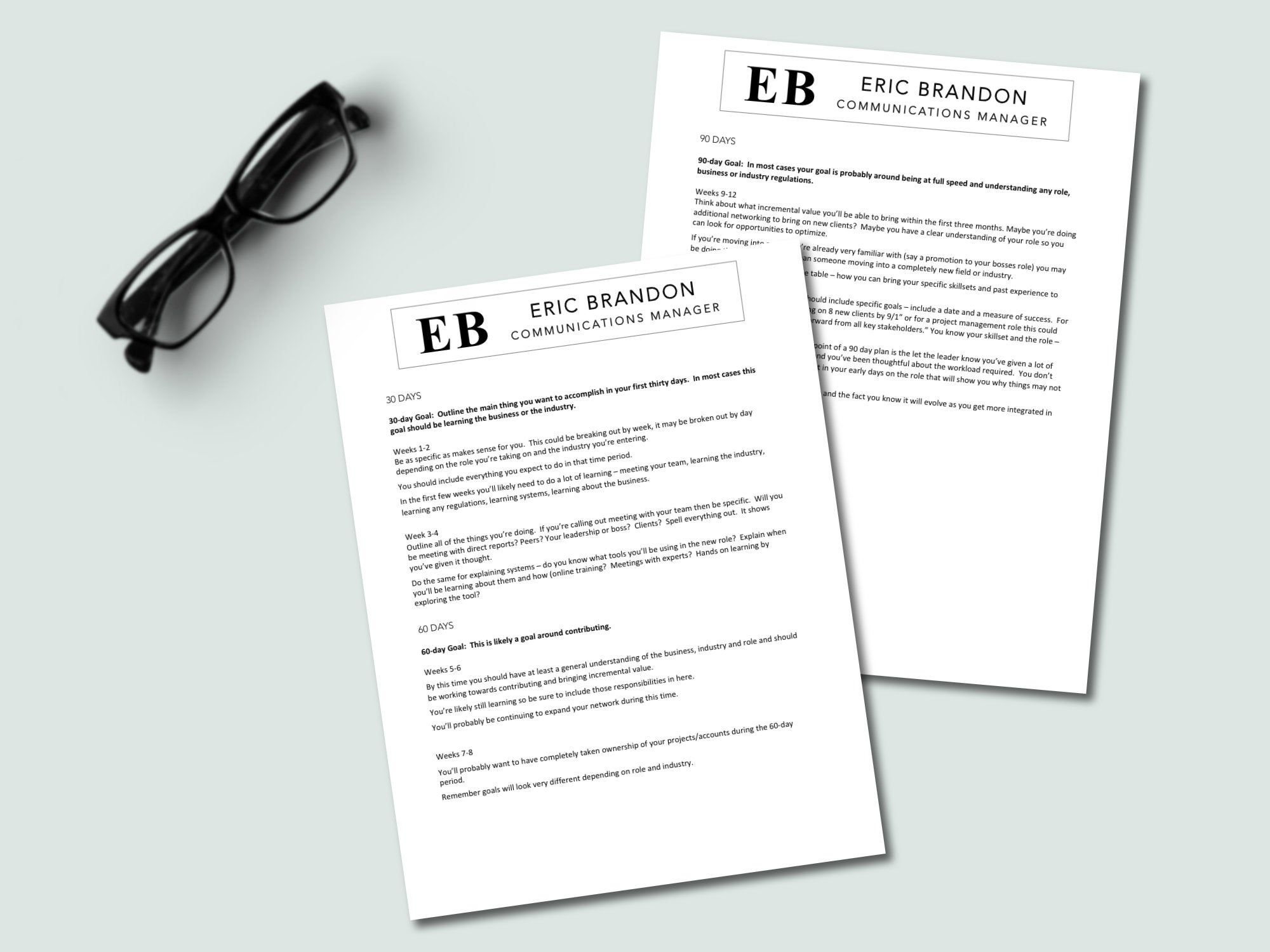 Executive level 90 day plan template easy to update ceo