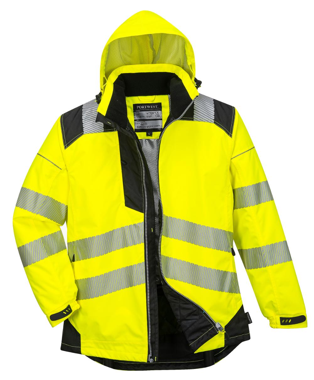 Portwest Vision Hi Vis Rain Jacket T400 Total Image Workingmans Big Tall Boots Carhartt Winchester Va Rain Jacket Jackets Waterproof Jacket