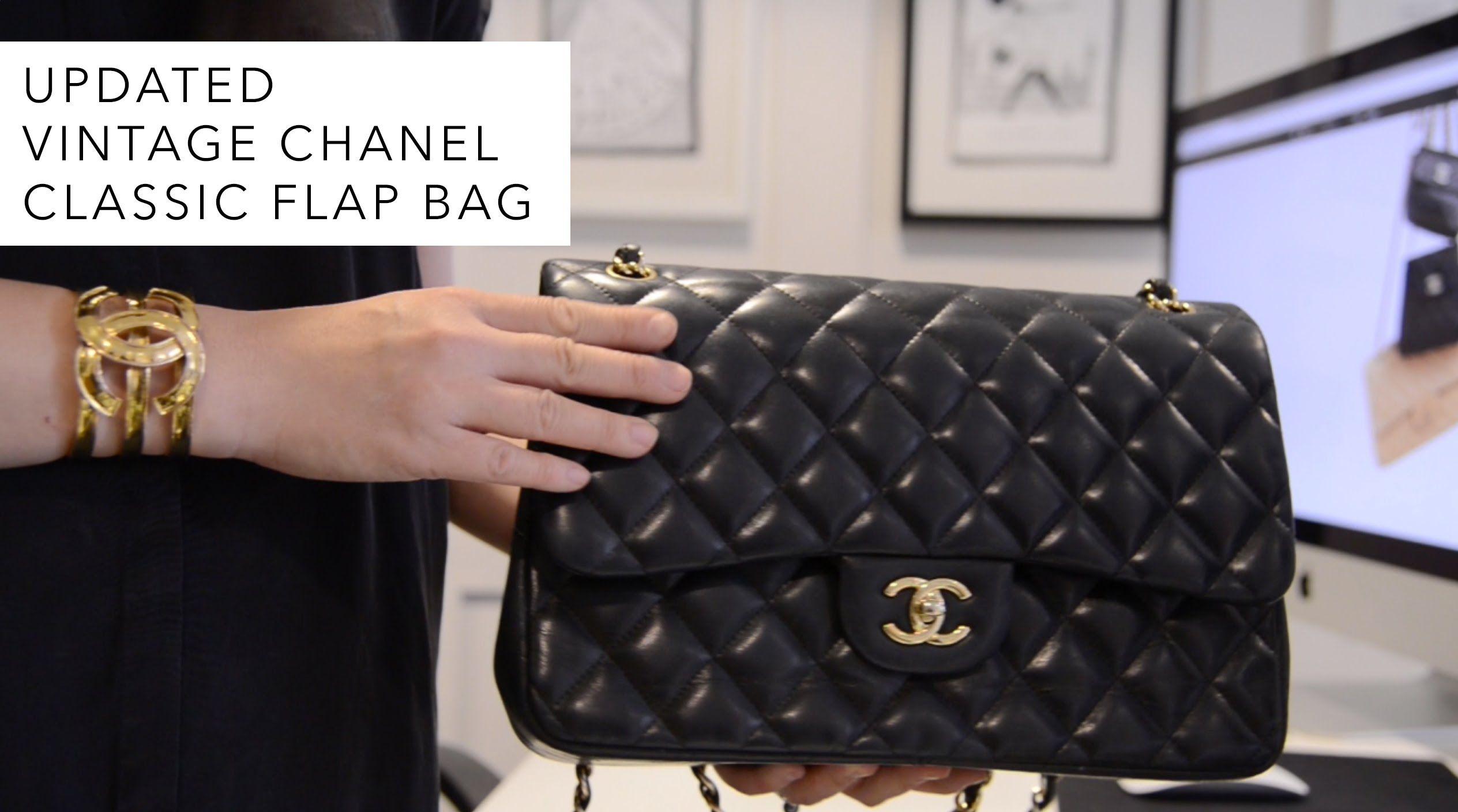 beb1ba89b95a Updated Classic Flap Bag | cute Bags | Chanel classic flap, Vintage ...