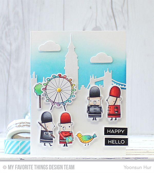 London Mouse, Label Maker Sentiments, London Mouse Die-namics, Label Tape Die-namics, London Skyline Die-namics - Yoonsun Hur  #mftstamps