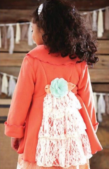 821901a7 Peaches N Cream Coral Fleece Lace Coat in 2018 | Products ...
