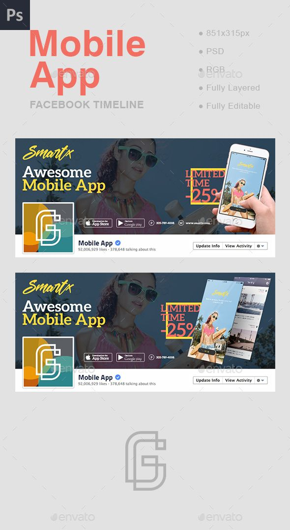 Mobile app facebook cover mobile app app and facebook mobile app facebook cover cover templatepsd pronofoot35fo Images