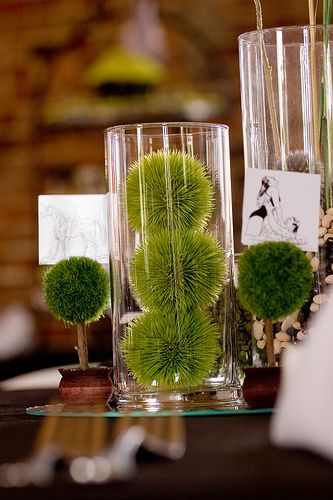 table setting by bicyclebuiltfor2 via Flickr... found semi reasonable glassware at Floral & Non-floral centerpieces \u2014 the interactive edition | Centerpieces ...